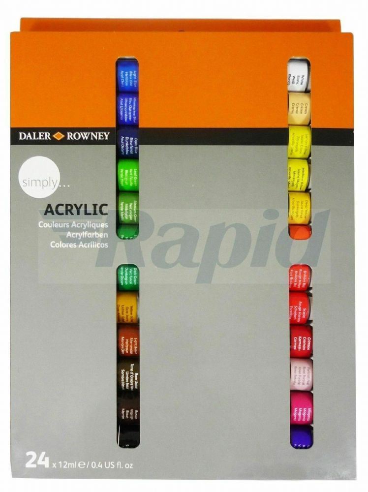 Daler Rowney Simply Acrylic 24 x 12ml Set